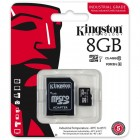 Cartão De Memória Classe 10 Kingston Micro SDHC Industrial 8GB Com Adaptador SD - SDCIT/8GB