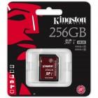 Cartão De Memória Classe 10 Kingston SDXC 256GB  U3 Ultimate - SDA3/256GB