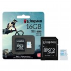 Cart�o de Mem�ria Kingston Micro SDHC Action com Adaptador SD 16GB SDCAC/16GB