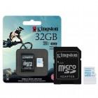 Cartão de Memória Kingston Micro SDHC Action com Adaptador SD 32GB SDCAC/32GB