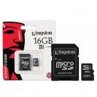 Cartão de Memória Kingston Micro SDHC com Adaptador 16GB SDC4/16GB