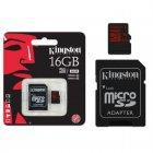 Cartão de Memória Kingston Micro SDHC com Adaptador SD UHS-I 16GB SDCA10/16GB