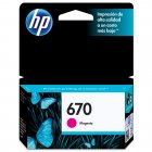Cartucho HP 670 Magenta 4ml CZ115AB