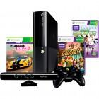 Console Oficial Microsoft Xbox 360 4GB Preto + Kinect + Controle Wireless + 3 Jogos