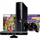 Console Oficial Microsoft Xbox 360, 4GB - Preto + Kinect Sensor + 2 Jogos + Controle Sem Fio