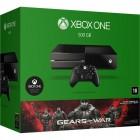 Console Oficial Microsoft Xbox One HD 500GB + Controle Wireless + Jogo Gears of War: Ultimate Editio