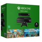 Console Xbox One 500GB + Kinect + Jogos Kinect Sports Rivals, Zoo Tycoon