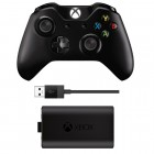 Controle Wireless Para Xbox One + Kit Carregar e Jogar - Preto
