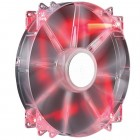 Cooler Megaflow 200 Silent Fan Cooler Master, 200mm, 700 RPM, Led Vermelho - R4-LUS-07AR-GP