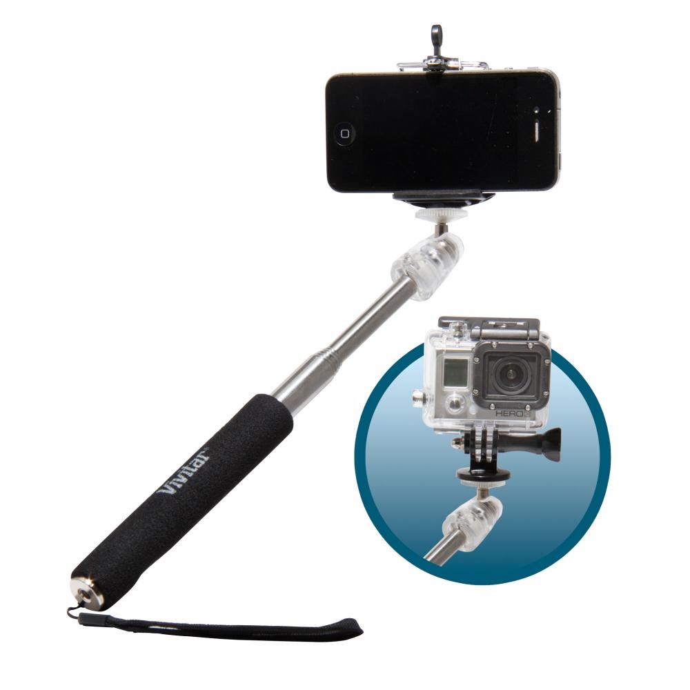 Bastão extensor para selfie com comprimento até 90 cm  - VIVITAR