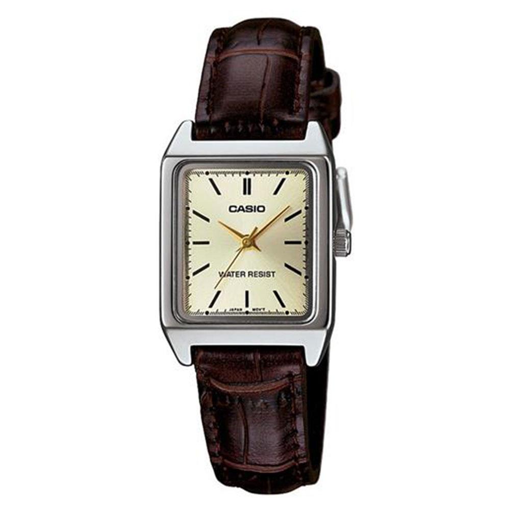 Relógio Feminino Analógico Casio LTP-V007L-9EUDF - Marrom