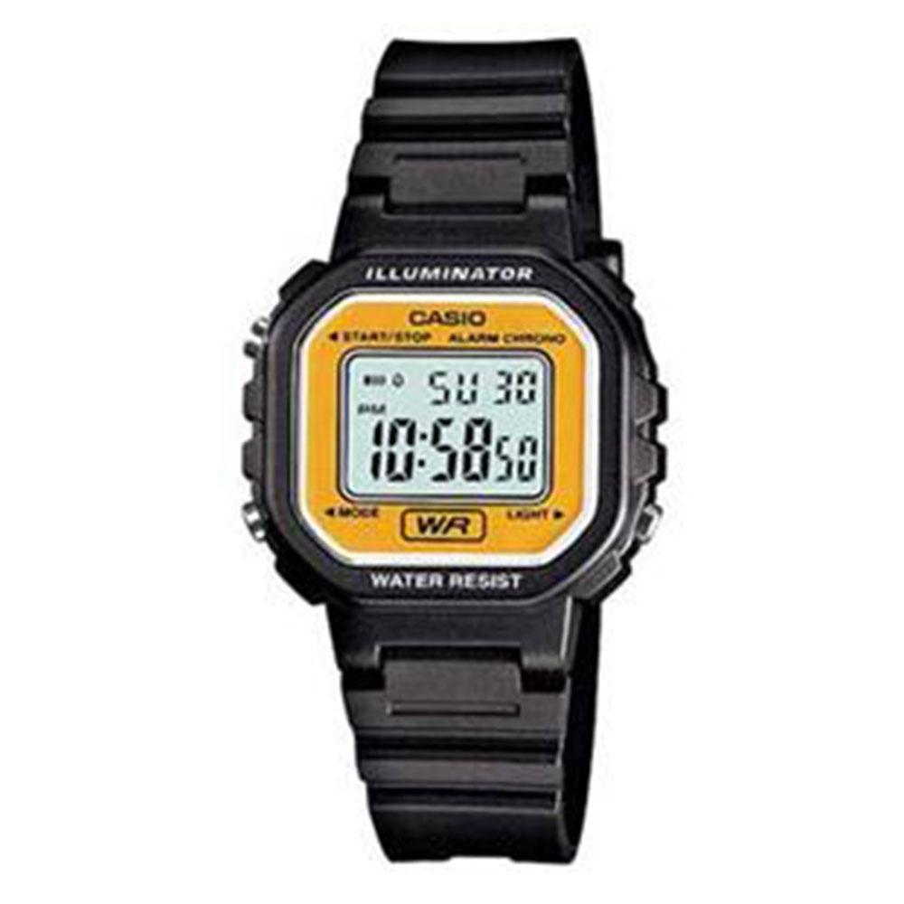 Relógio Feminino Digital Casio LA-20WH-9ADF - Preto/Amarelo