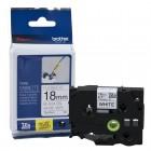 Fita Para Rotulador Brother TZEFX241, 18mm, Preto sobre Branco Laminada Flexível