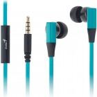 Fone de Ouvido com Microfone Genius HS-M230 In-Ear - Azul Turquesa