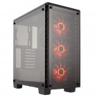 Gabinete Gamer Corsair Crystal Series 460X, Mid Tower, CC-9011101-WW - RGB com Vidro, Sem Fonte