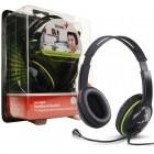 Headset Genius HS-400A Preto e Verde - Ajustável