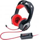 Headset GX Gaming Genius HS-G850 Zabius Preto e Vermelho com LED