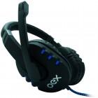 Headset OEX Bit HS-206, USB: Preto e Azul - Para PC/Mac
