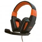 Headset OEX Combat HS-205 P2: Preto e Laranja - Para PC/Mac