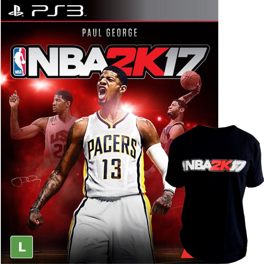 Jogo NBA 2K17 PS3 + Camiseta NBA 2K17