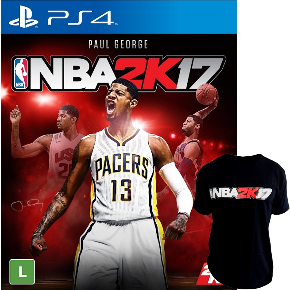 Jogo NBA 2K17 PS4 + Camiseta NBA 2K17