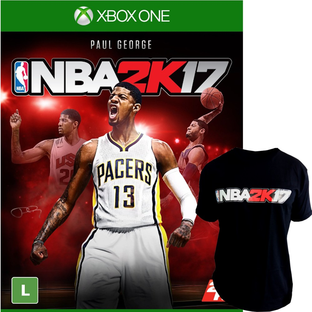 Jogo NBA 2K17 Xbox One + Camiseta NBA 2K17