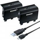 Kit Cabo USB e 2 Baterias DreamGear para controle Xbox One - DGXB1-6608