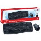 Kit Teclado e Mouse Wireless Genius KB-8000X USB 2.4 - Preto