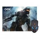 Mouse e Mousepad Gamer OEX War MC-100