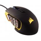 Mouse Gamer Corsair Óptico Scimitar RGB - 12000 DPI - Preto / Amarelo