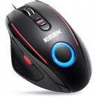 Mouse Gamer MLG-235 K-Mex USB PC - Preto e Vermelho