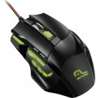 Mouse Gamer Multilaser MO208 XGamer Fire Button USB 2400 DPI - Preto/Verde Com Fio