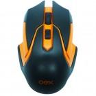 Mouse Gamer OEX Óptico Hyper MS-307 com Quatro Botões, Wireless - Preto e Laranja, Sem Fio
