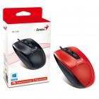 Mouse Genius Ergonomico DX-150X USB 1000DPI - Vermelho