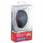 Mouse Green Wireless USB Genius NX-6500 - Met�lico Preto/Vermelho