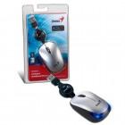 Mouse Óptico Genius NX-Micro USB, 1200 DPI - Prata, Com Fio