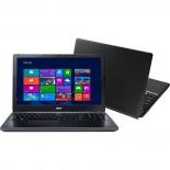 Notebook Acer E5-571-33ZU Intel Core i3, Windows 8.1, 4GB de RAM, 500GB de HD,Tela 15,6 LED HD