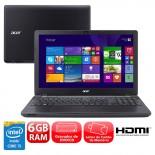 Notebook Acer E5-571-5474 Intel Core i5, Windows 8.1, 6GB de RAM, 1TB de HD,Tela 15,6 LED HD