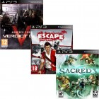 Pacote de Jogos com Armored Core: Verdict Day PS3 + Escape Dead Island PS3 + Sacred 3 PS3