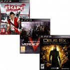 Pacote de Jogos com Escape Dead Island  PS3 + Armored Core Verdict Day PS3 + Deus Ex: Human R. PS3