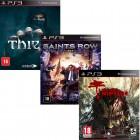 Pacote de Jogos com Dead Island Riptide PS3 + Saints Row IV PS3 + Thief PS3