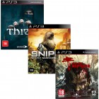 Pacote de Jogos com Dead Island Riptide PS3 + Sniper Ghost Warrior PS3 + Thief PS3