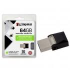 Pen Drive Kingston Smartphone 64GB Datatraveler Micro Duo - USB e Micro USB 3.0 OTG