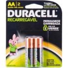 Pilha Recarreg�vel AA Comum (Emb. cont�m 2 un.) - Duracell