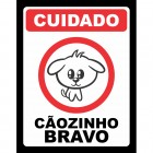 Placa C�ozinho Bravo