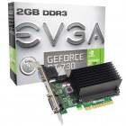 Placa de V�deo GeForce EVGA Performance Nvidia 02G-P3-1733-KR GT 730, 2GB, DDR3, 64Bits