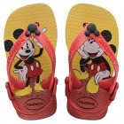 Sandália Havaianas Kids Baby Mickey Classic, 17/18 - Vermelho e Preto