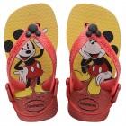 Sandália Havaianas Kids Baby Mickey Classic, 19 - Vermelho e Preto