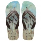 Sandália Havaianas Masculino Surf Areia, 35/36 - Azul e Preto