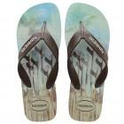 Sandália Havaianas Masculino Surf Areia, 37/38 - Azul e Preto